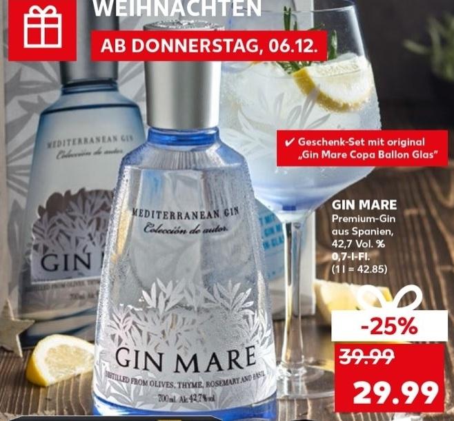 Gin Mare mit Glas für € 29,99 (ab 06.12./ Kaufland)