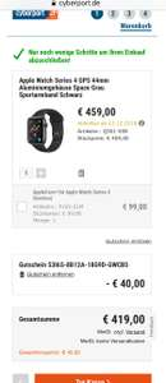 Apple Watch Series 4 GPS 44mm Aluminium