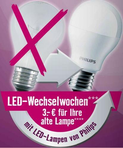 [Offline Hornbach] Philips LED-Wechselwochen, 3€ abzug für dein altes Leuchtmittel
