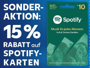 15% auf Spotify Gutscheinkarten bei Kaufland Deutschland