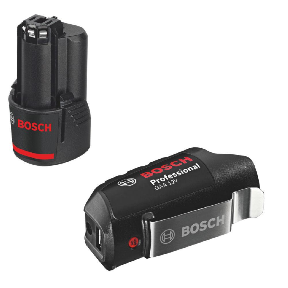 [Raiffeisen] Bosch blau GSR 12V-15 3x 2,0Ah in L-Boxx mit USB-Adapter GAA