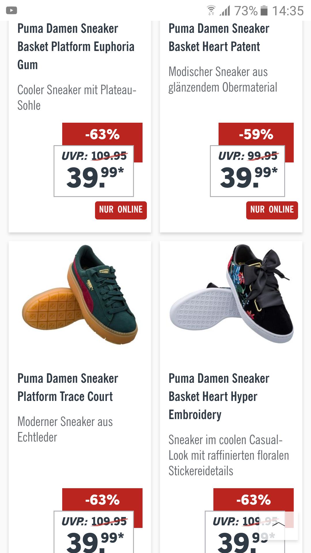 Diverse Puma Sneaker stark reduziert!