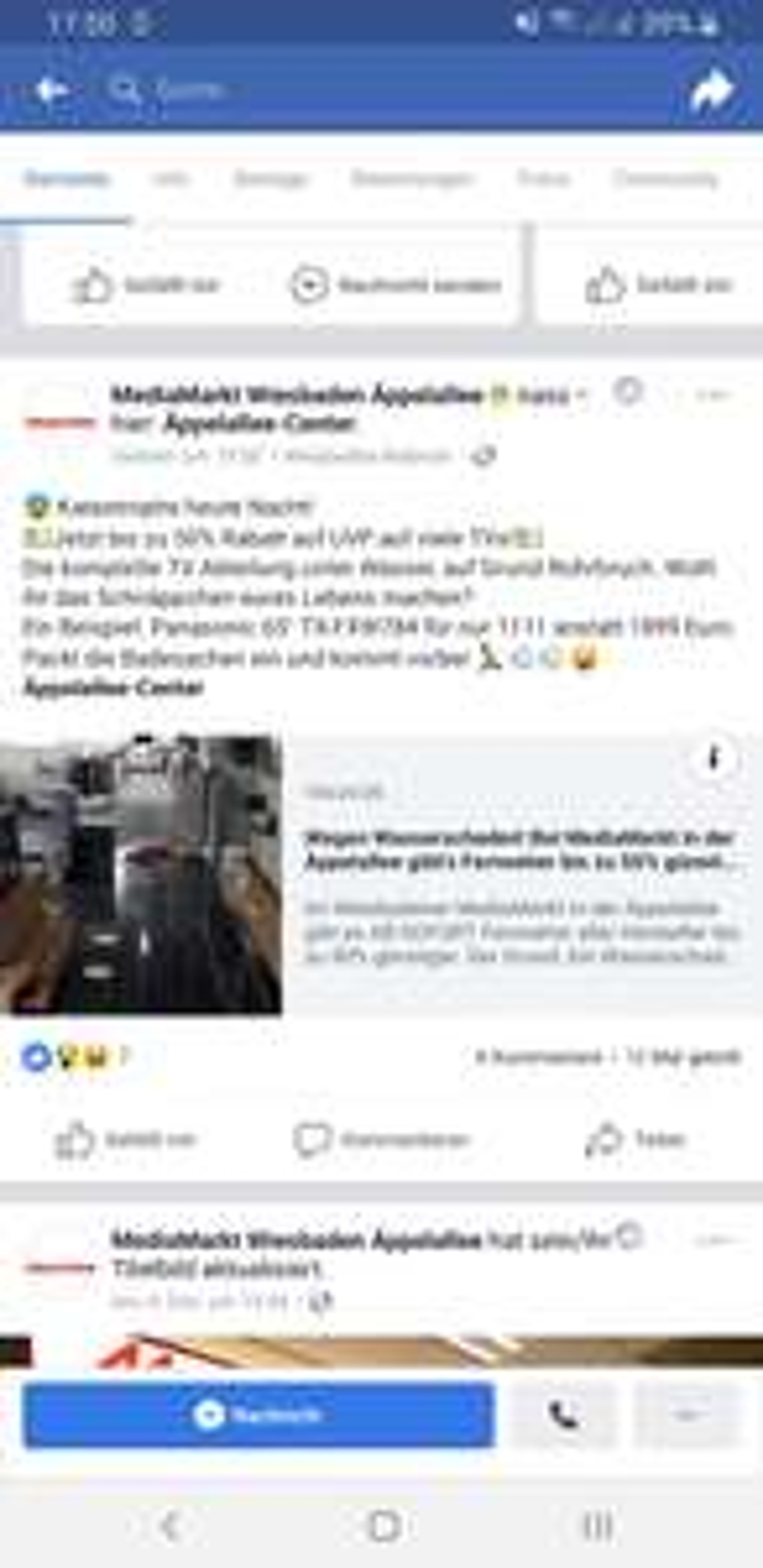 Mediamarkt Wiesbaden lokal - Panasonic TX-65FXW784 - 1111€  statt 1899€ - angeblich noch viele andere TVs bis 50% reduziert