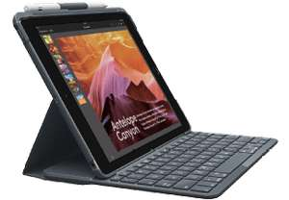 LOGITECH SLIM FOLIO, Tablethülle mit Tastatur für Apple iPad 9.7 2018 6. Generation bei Saturn