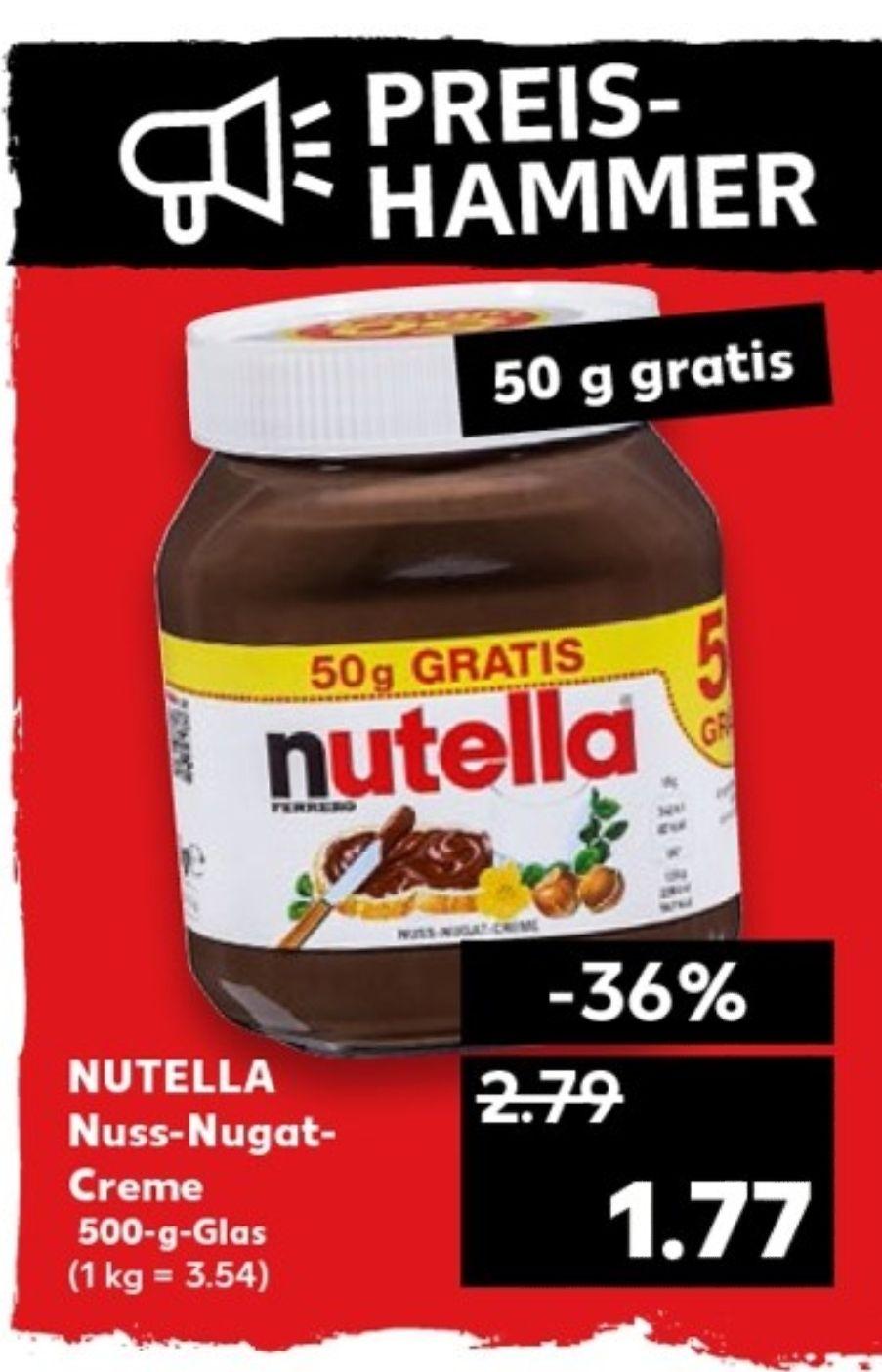 [Kaufland] [Nur noch heute!] Nutella 450g + 50g Gratis für 1,47€ mit 0,30€ Coupon ab 10.12.2018