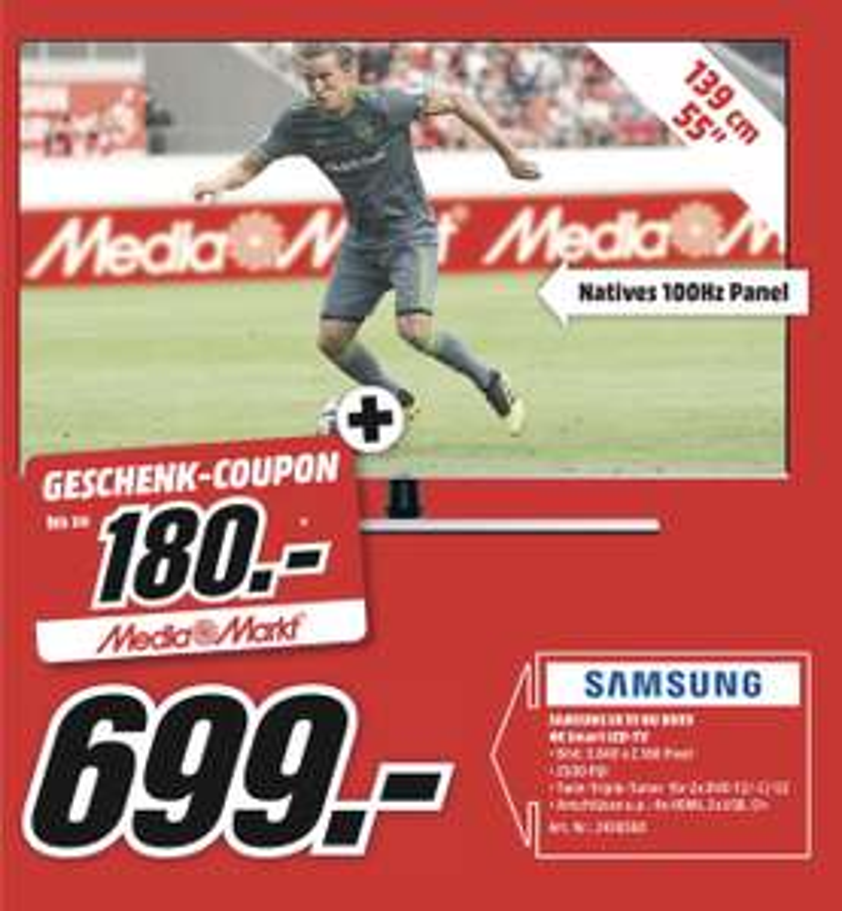 """[Lokal Media Markt Dietzenbach] Samsung UE55NU8009 UHD TV Fernseher 55"""" STROMDEAL!!"""