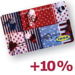 [LOKAL IKEA HAMBURG SCHNELSEN und weitere Filialen] 10% beim Kauf einer Ikea Geschenkkarte als Aktionskarte dazu