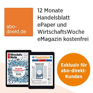 12 Monate Handelsblatt ePaper + Wirtschaftswoche als eMagazin (iPad & co) kostenlos und unverbindlich
