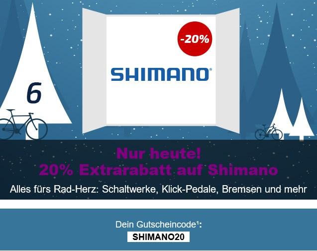 Bei Fahrrad.de Nur heute 20% Auf alle Shimano Artikel