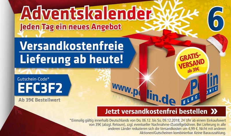 Pollin Versand-kostenfreie Lieferung ab 39€ Bestellwert