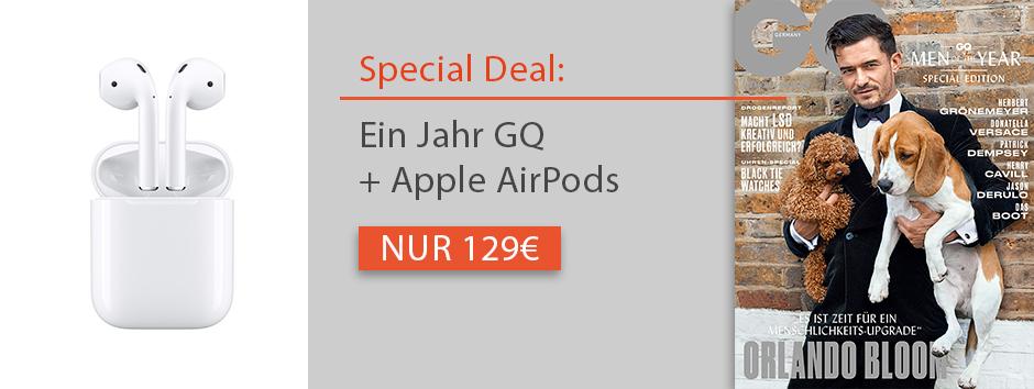 12 Monate GQ + AirPods im Kombiabo