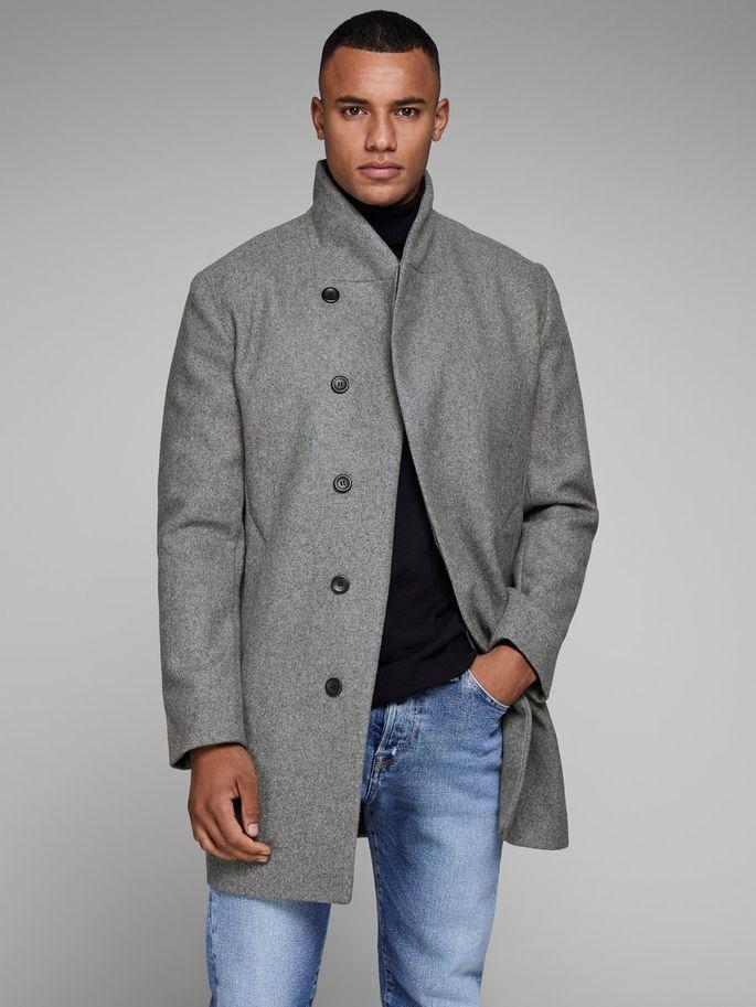 25% Rabatt auf alle Jacken, z.B. Wollmantel in grau