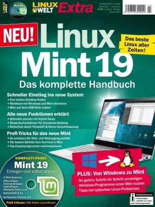 """LinuxWelt Extra 3/2018  - """"LINUX MINT 19"""" kostenlos als PDF herunterladen"""