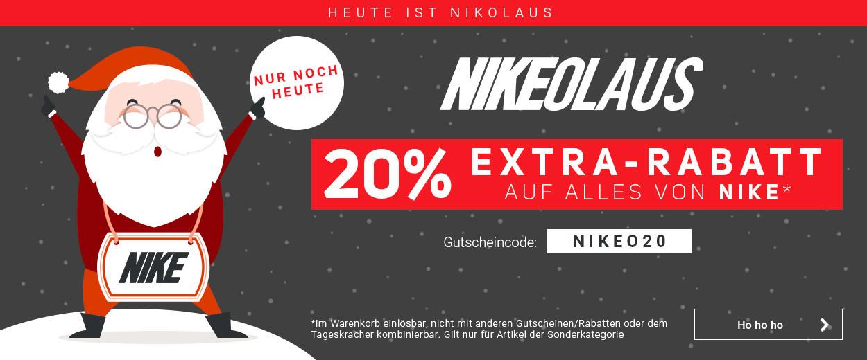 [jogging-point / tennis-point] 20% Extrarabatt auf alles von Nike (nur noch heute)