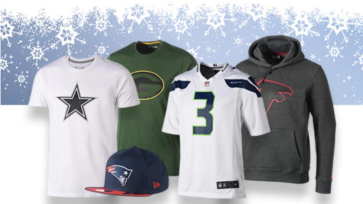 Der NFL-Nikolaus ist da – 15€ ab einem Einkauf von 70€ (auch reduzierte Artikel)