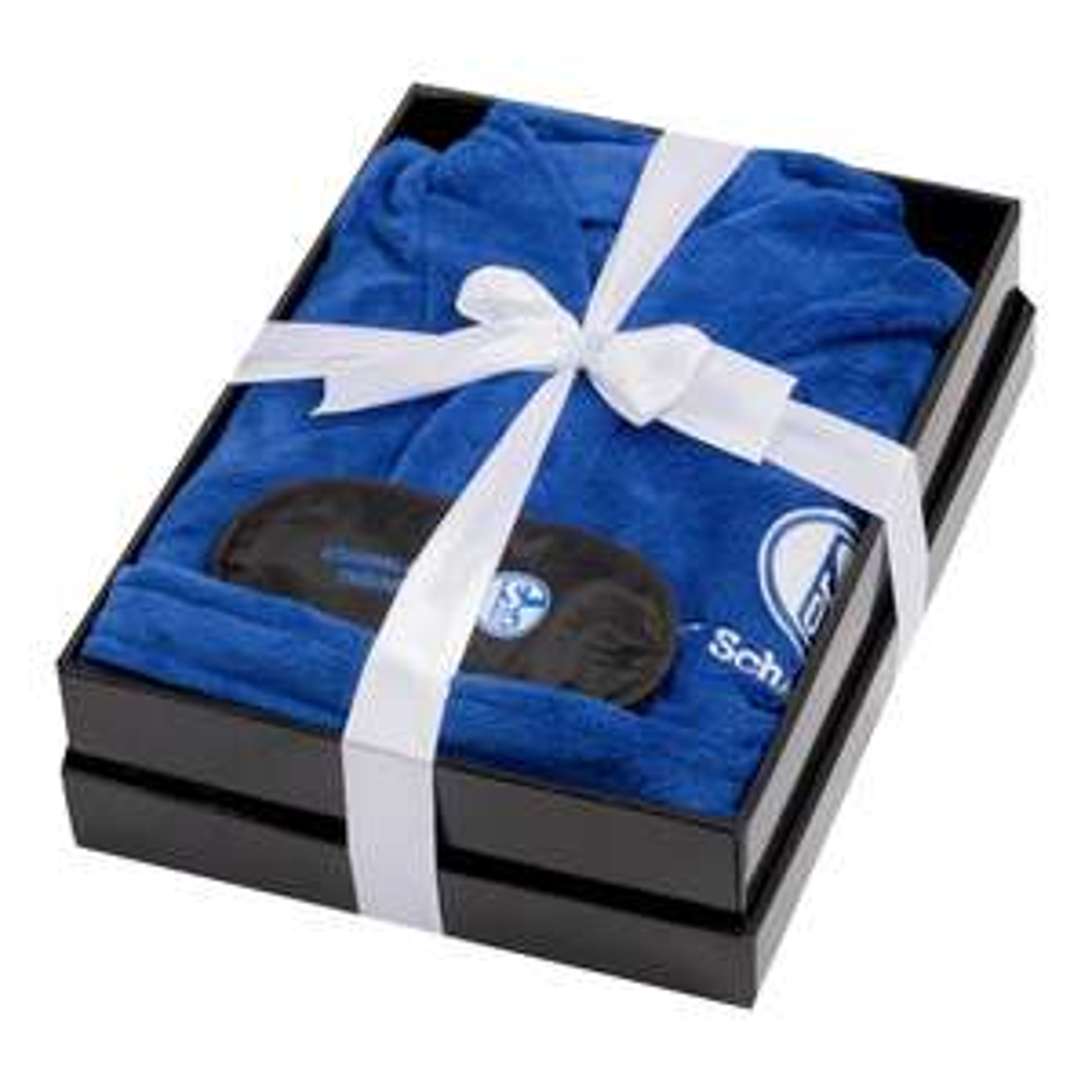Schalke Bademantel mit Schlafmaske von S bis XXL für 25€ + 5€ Versand
