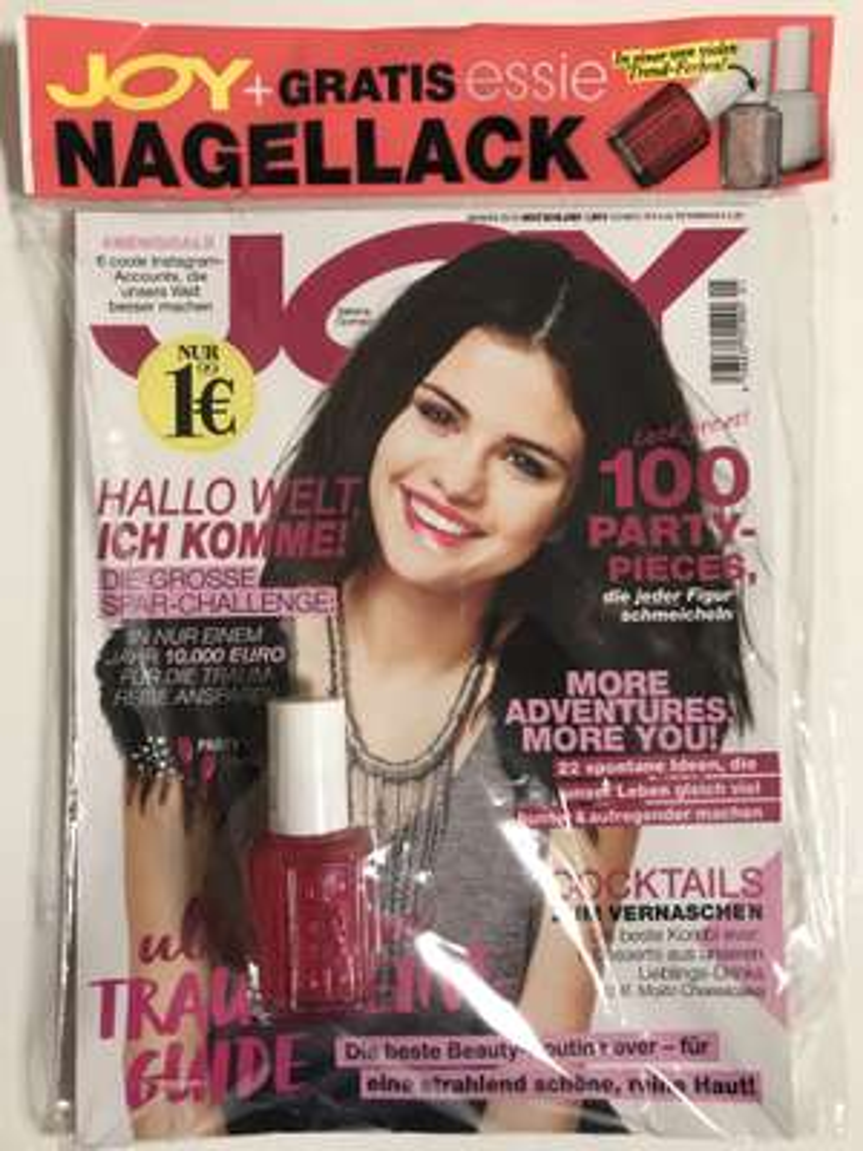 Gratis Essie Nagellack in der JOY Zeitschrift Jan. 19