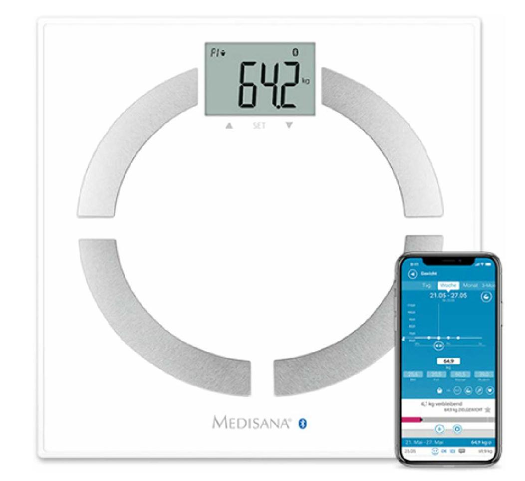 Medisana BS444 Körperanalysewaage mit App zur Körperanalyse, bis 180 kg