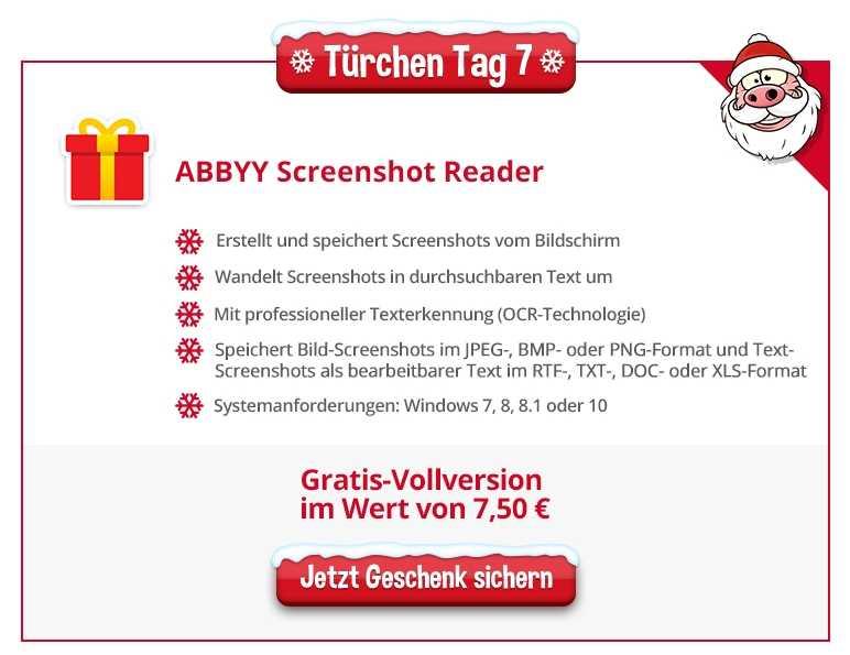 heise Adventskalender: ABBYY Screenshot Reader - Türchen 7