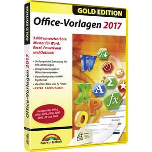 Office Vorlagen 2017 - Gold Edition