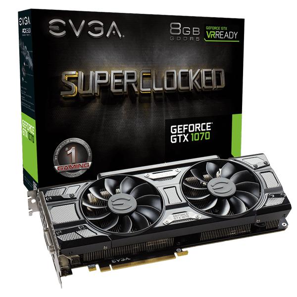 EVGA GeForce GTX 1070 SC GAMING Black Edition +MHW +Fortnite Bundle