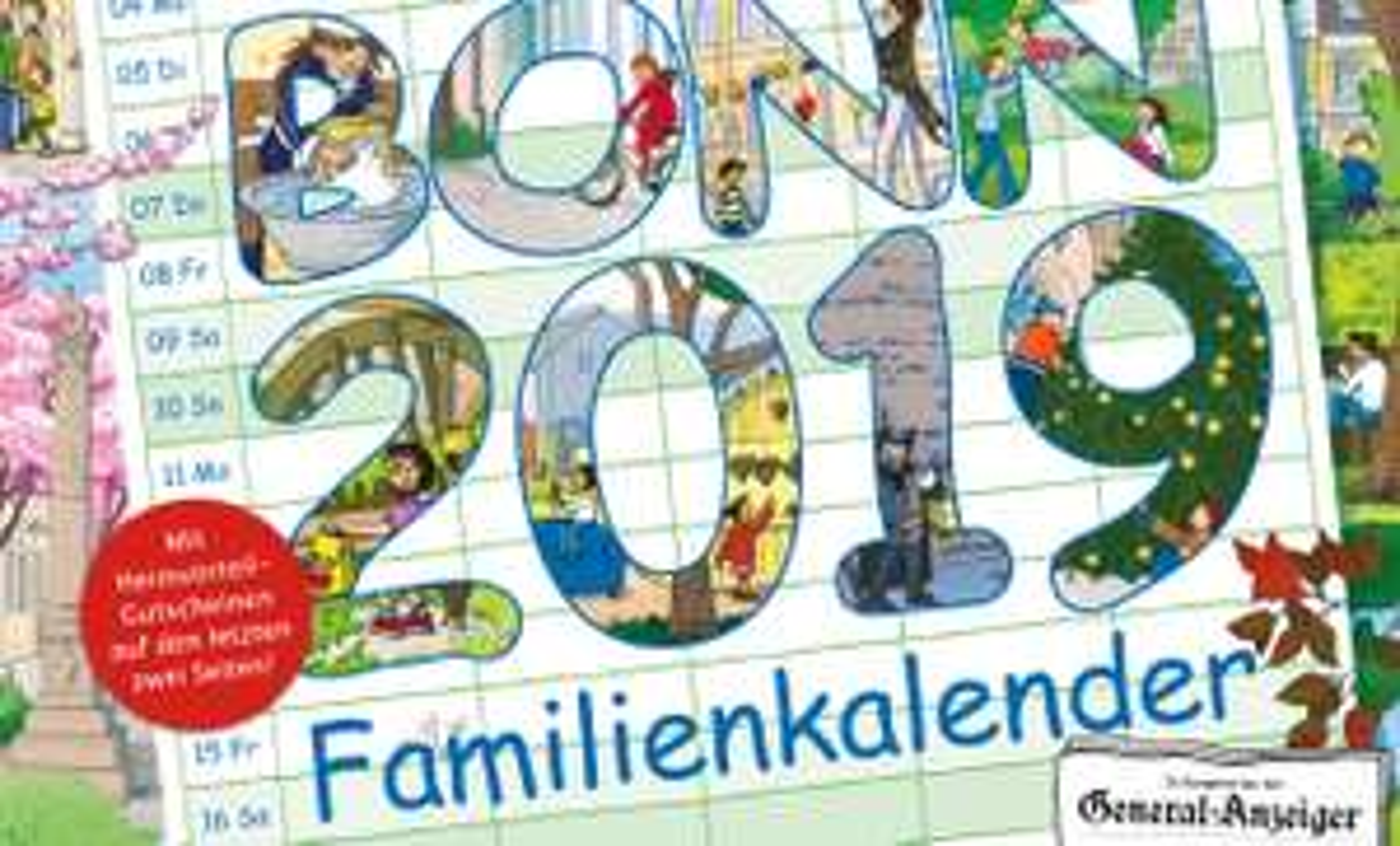 Familienkalender 2019 für Kunden der Stadtwerke Bonn
