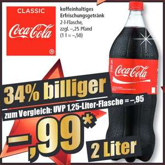 2 L Coca Cola für 0,99€ (0,50€/L) // Hela Gewürzketchup (delikat/scharf) für 1,49€ [NORMA ab 17.12.]