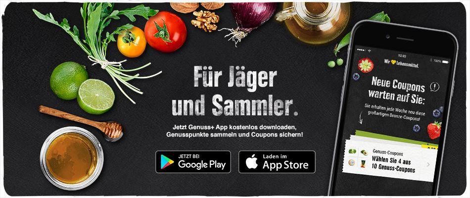 [Lokal Norddeutschland] 5,00 € Sofortrabatt in der Genuss+ App ab 5,00 € Einkauf - FREEBIES möglich!