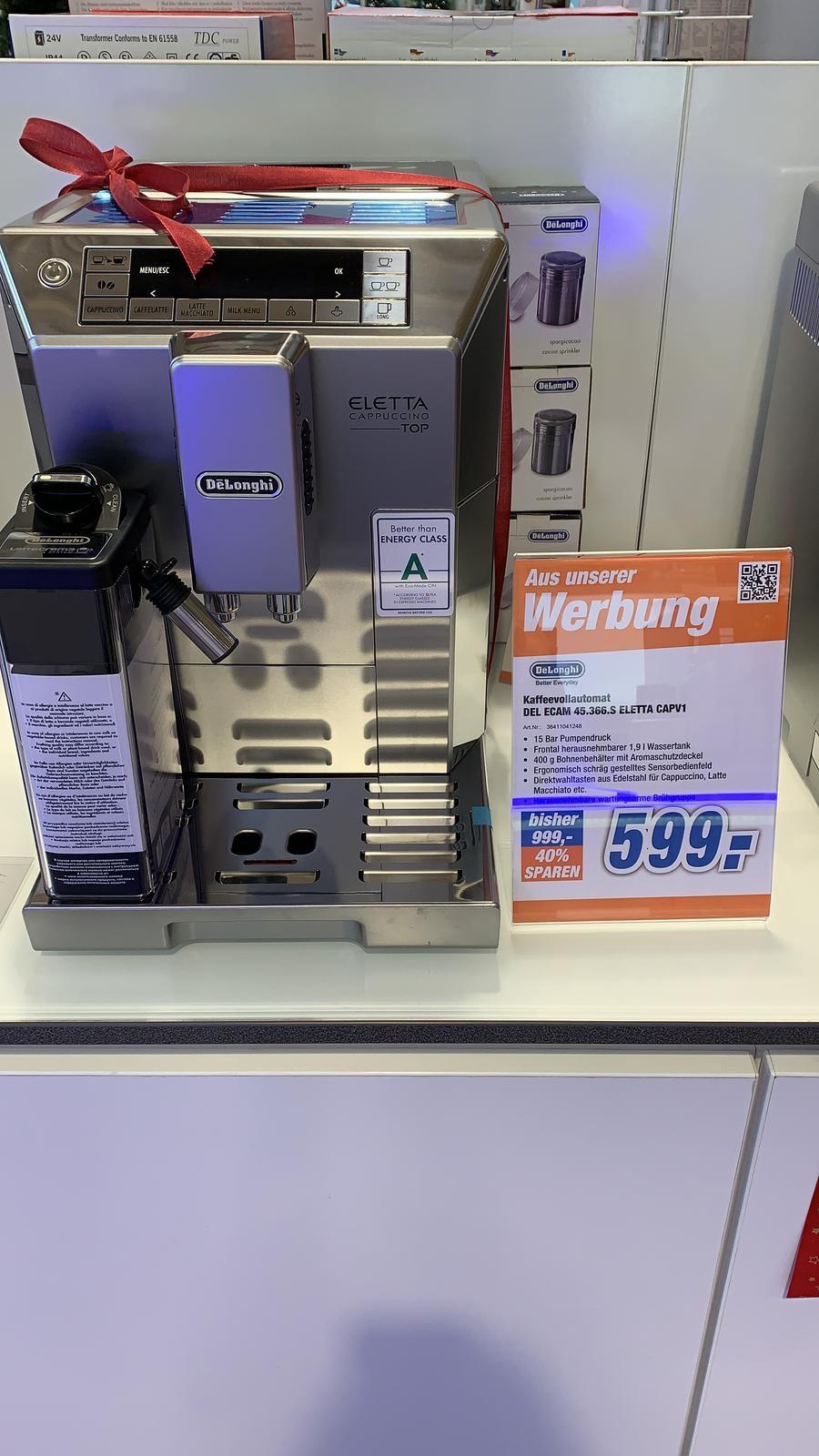 [LOKAL LEVERKUSEN] Expert DeLonghi Kaffeevollautomat ECAM 45.366.S Eletta CapV1 für 599 €