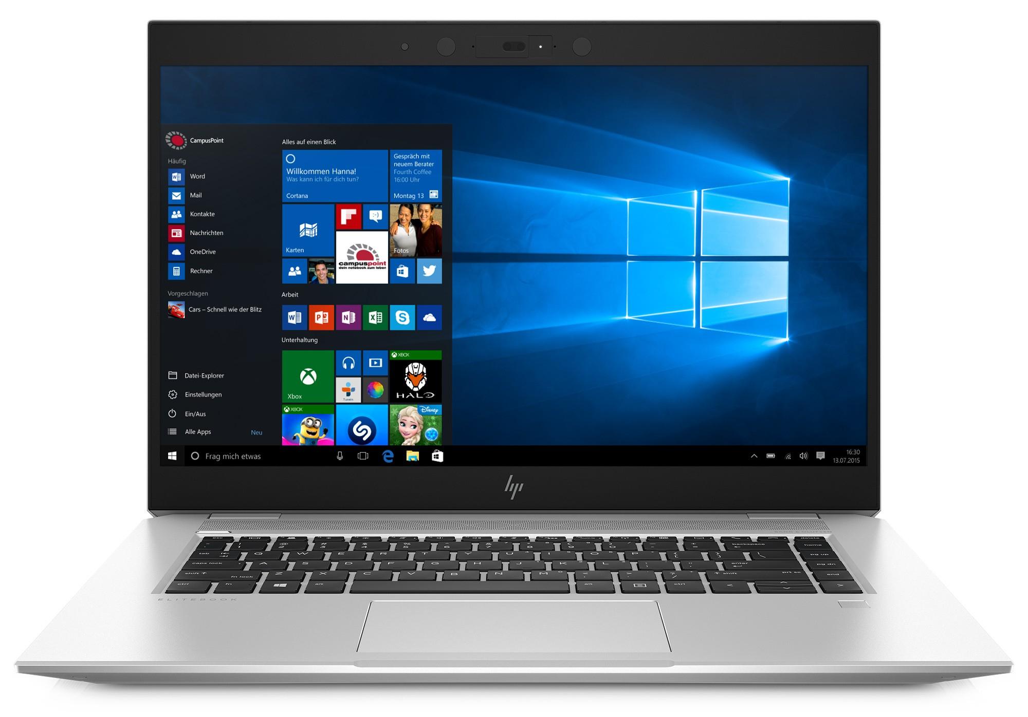 """HP Campus EliteBook 1050 G1 """"Campus Edition"""" 4K 5DG28ES (Alu-Unibody) mit Nachweißspflicht"""