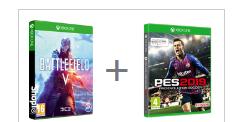 Battlefield V + Enlister DLC + Pro Evolution Soccer 2019 oder F1 2018 (Xbox One) für je 59,05€ (ShopTo)