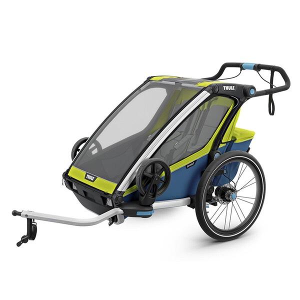 Thule Chariot Sport 2 Fahrradanhänger (2018 Version inkl. Fahrrad- und Buggyset)