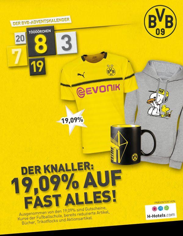 Update: auch am 9.12.! 19,09% Rabatt auf fast alles im BVB (Spitzenreiter-/Derbysieger-) Fanshop
