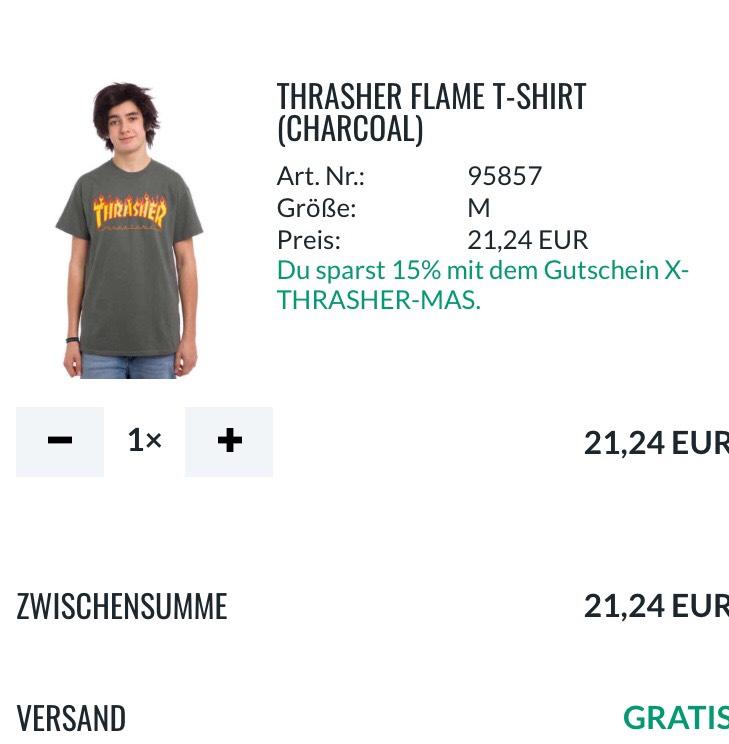 15% auf THRASHER-Artikel bei skatedeluxe.com