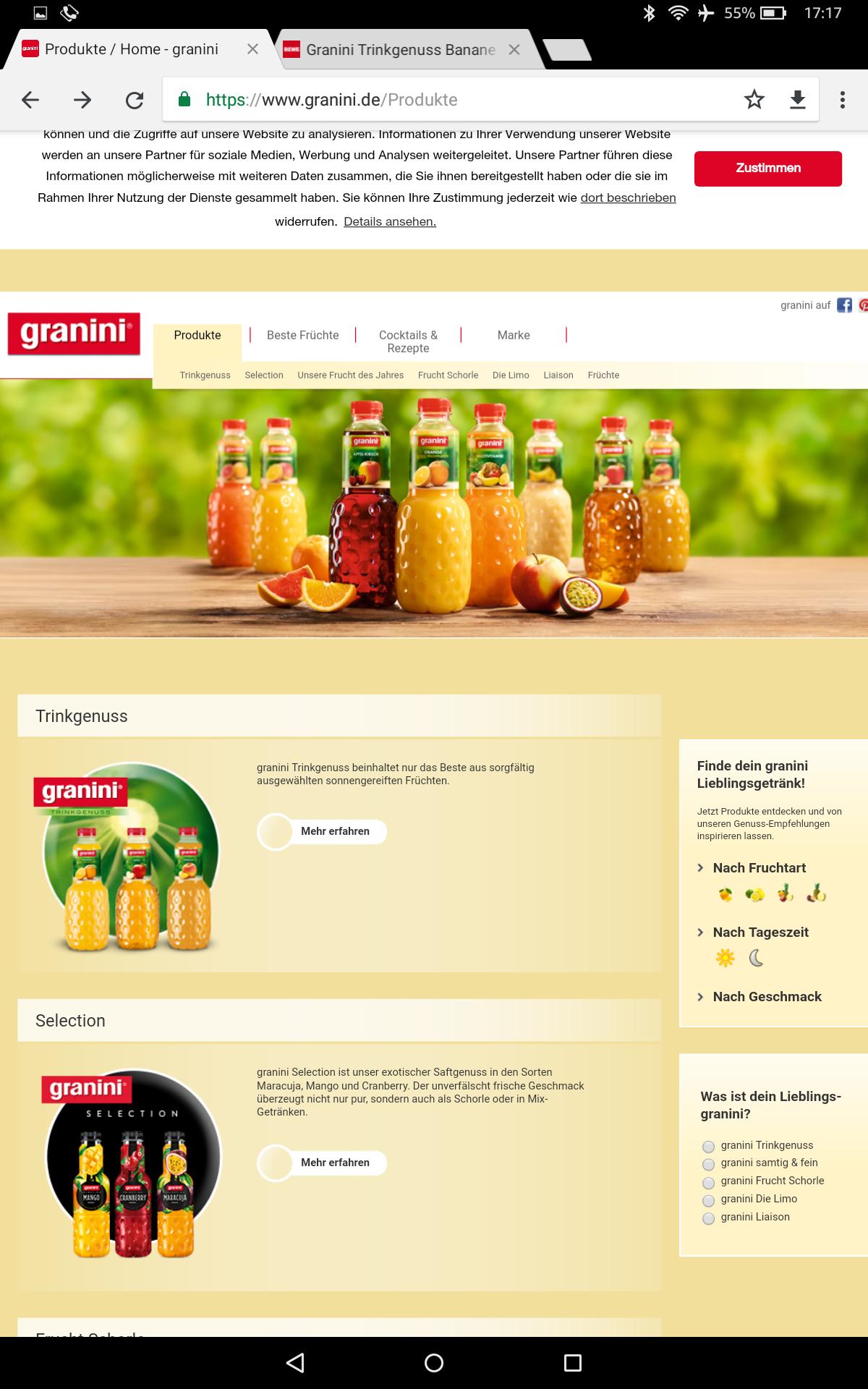 Granini Trinkgenuss / Selection versch. Sorten