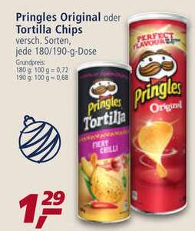Pringles versch. Sorten 180/190g für 0,79€ bei Real ab 10.12.2018 (Angebot+Coupon)