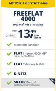 FREENET MOBILE Freeflat 4000 Vodafone Netz