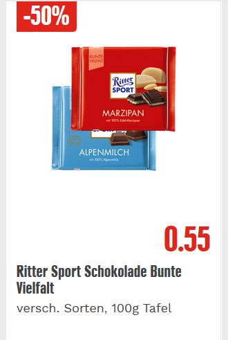 [Edeka & Marktkauf deutschlandweit] Ritter Sport Bunte Vielfalt 100g