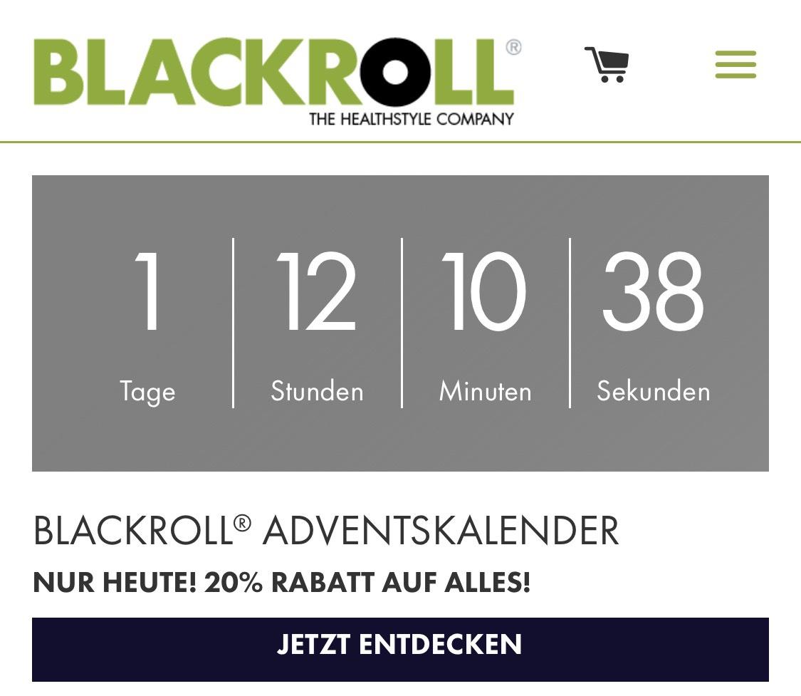 20% bei Blackroll auf das gesamte Sortiment nur heute.
