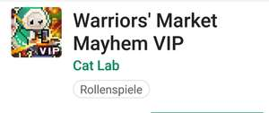 Warriors Market mayhem VIP * Google Playstore *