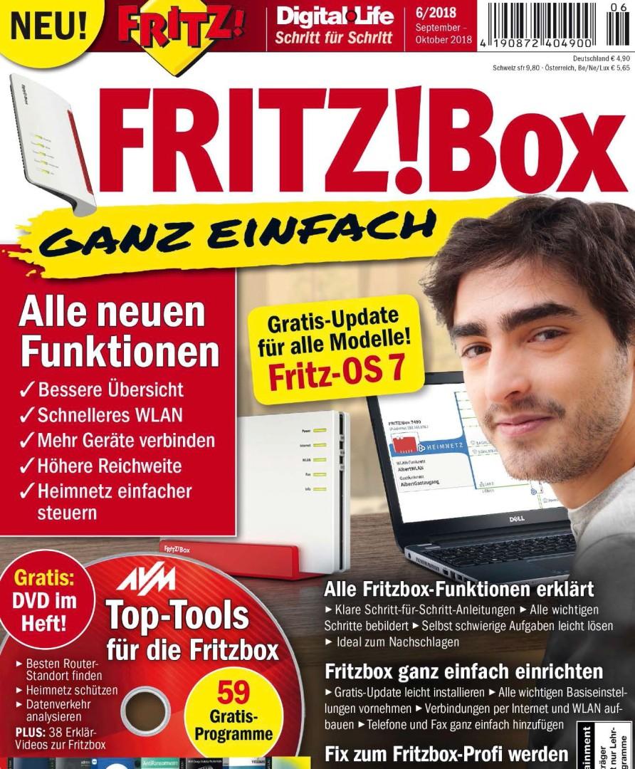 """Digital Life Magazin Schritt für Schritt 06/2018, """"Fritz!Box - ganz einfach"""" kostenlos als PDF herunterladen"""