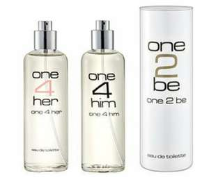 one2be - one4her - one4him EAU de Toilette die Duft-Klone bei Aldi Nord