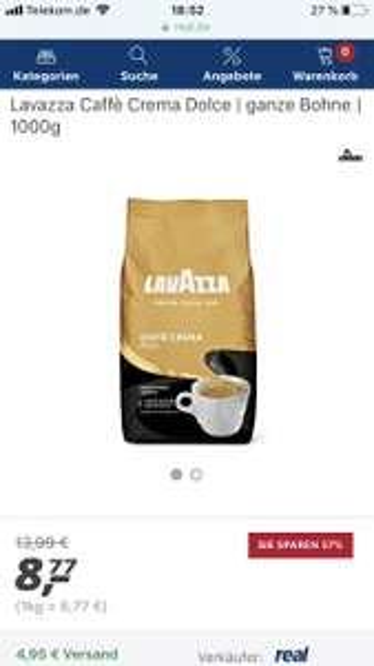 Real - Lavazza Kaffee verschiedene Sorten 1kg für 8,77 im Markt