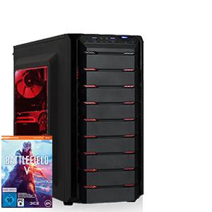 Gaming PC [konfigurierbar] Ryzen 5 2600, Palit RTX 2070 Dual V1, G.Skill 8GB DDR4-3000, MSI B450, 500GB SSD Samsung Evo 860 (+Battlefield V)