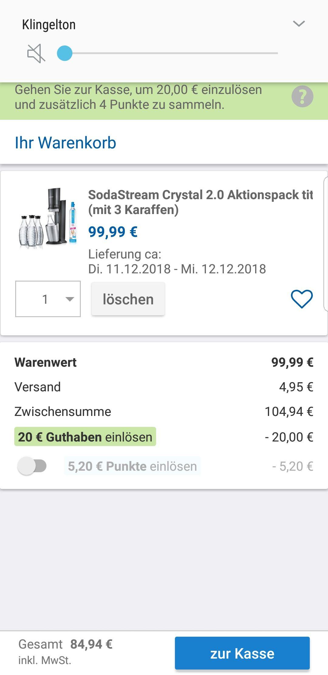 Sodastream 2.0 Titan mit 3 Trinkflaschen und Zylinder