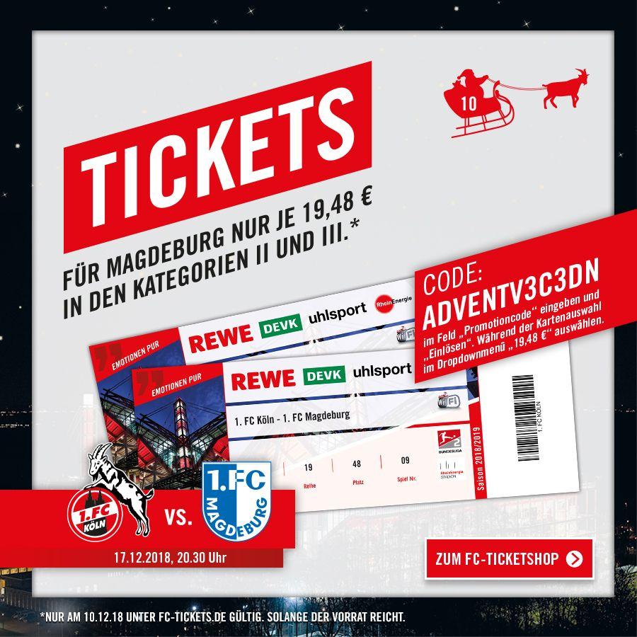 FC Köln Tickets für Spiel gegen Magdeburg 17.12.