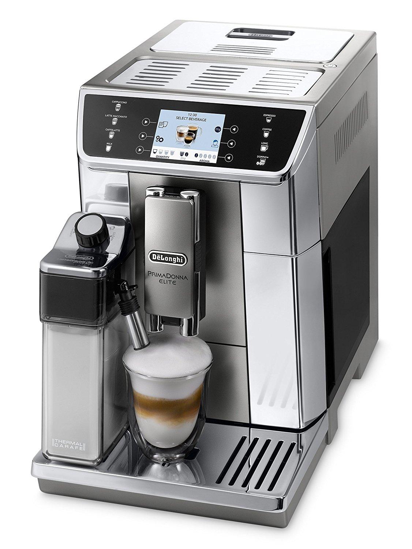 [Tecedo] De'Longhi PrimaDonna Elite ECAM 656.55.MS Kaffeevollautomat , Farbdisplay , 8 Direktwahltasten , APP Steuerung , Edelstahlfront