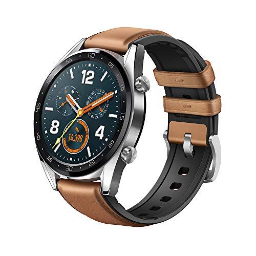 """[Amazon.es] HUAWEI Watch GT Smartwatch, 1,39"""" AMOLED Touchscreen GPS Fitness Tracker Herzfrequenzmessung,5 ATM wasserdicht - braun"""