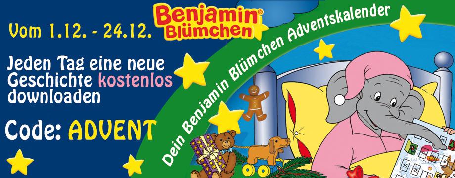 Jeden Tag (bis 24.12.) eine neue Benjamin Blümchen Geschichte kostenlos downloaden