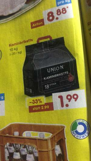 Braunkohle Briketts union 10kg | Do Fr Sa - Netto Discount
